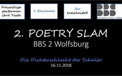 Zweiter Poetry Slam der BBS 2 am 16.11.2018
