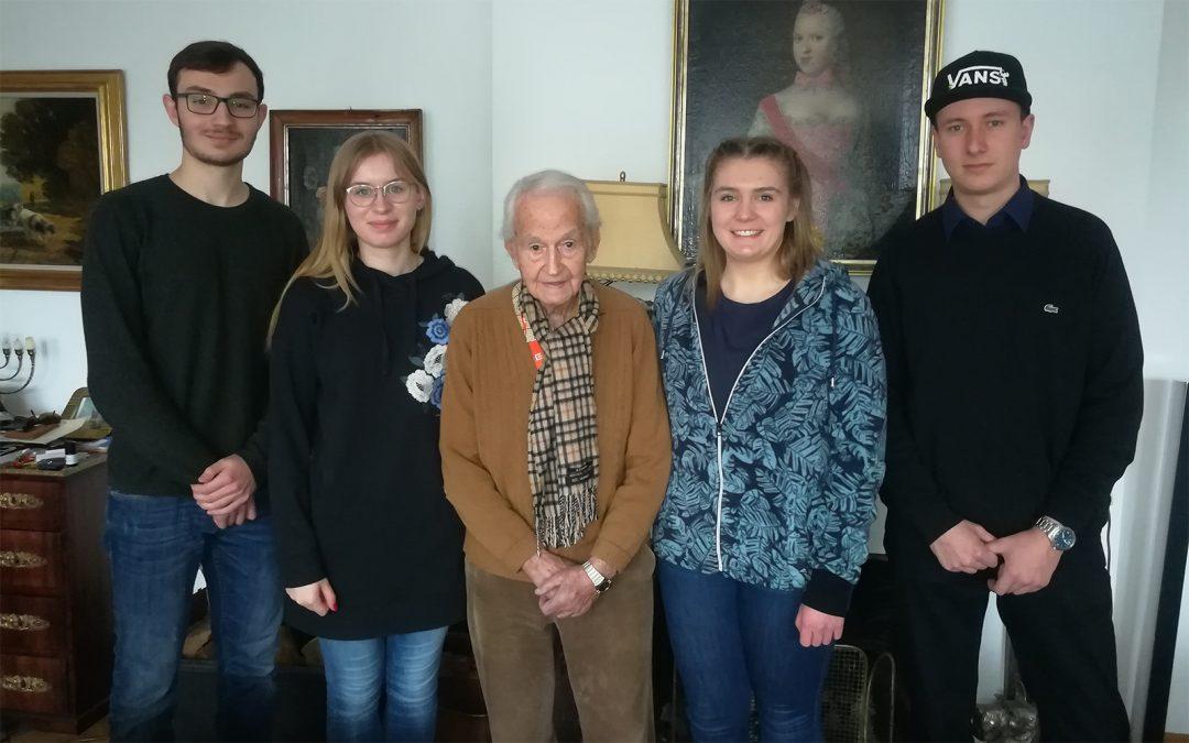 Zeitzeugen-Interview mit Leon Schwarzbaum in Berlin