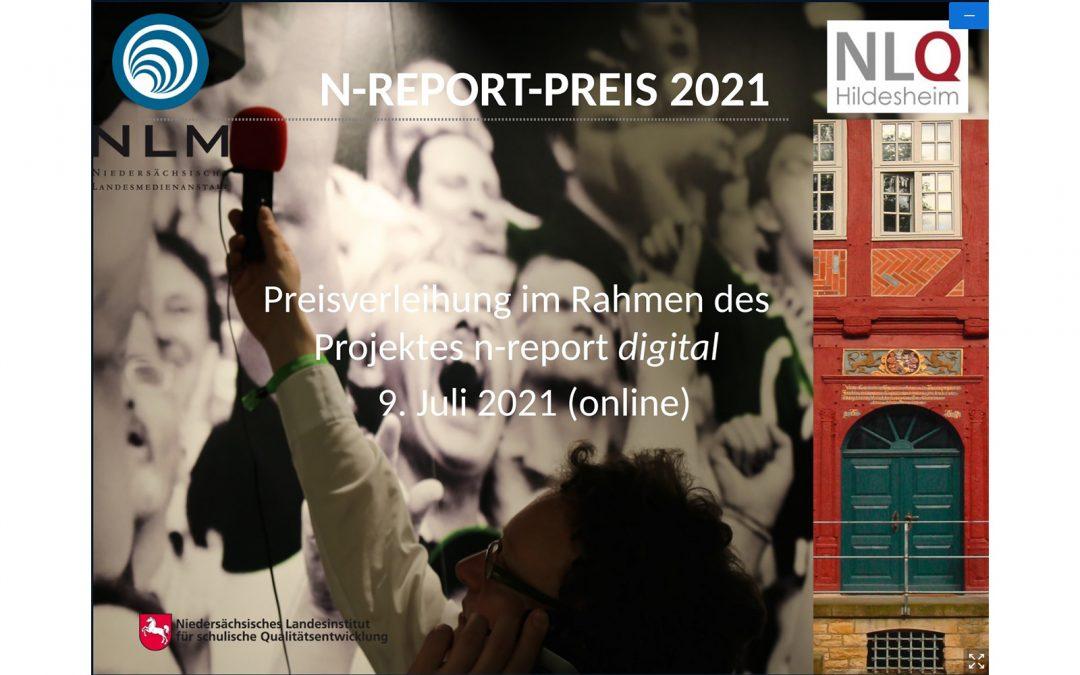 n-report-Preis 2021 für unsere Schüler